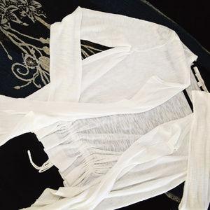 LOFT [white} lightweight cardigan sz. S