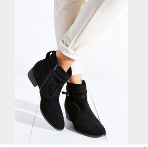 Seychelles Sanctuary Black Suede Booties