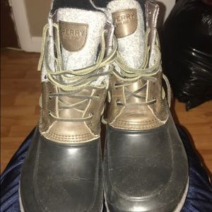 Sperry Boots: Black and Grey - Size 11
