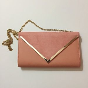 NWOT Peach Clutch with Hold Hardware