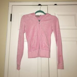 Juicy Couture Light Pink Velour Hoodie size S