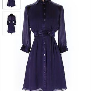 Catherine Malandrino Purple Front button dress 0