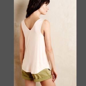 afbebc2fe6 Anthropologie Tops - Anthropologie Bordeaux Double V Swing Tank Gray