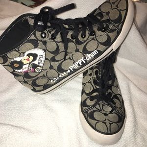 Like new Coach Poppy-Chan Limited edition high top