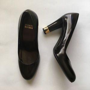 round toe pump heels