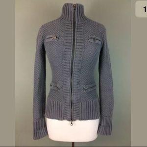 Athleta chunky knit gray Cardigan sweater