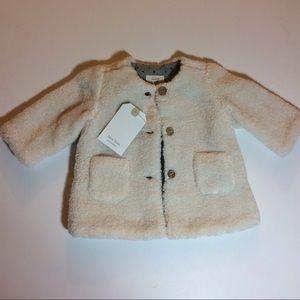 NWT Zara Mini Faux Shearling Coat Girl Sz 1-3 M