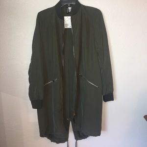 H&M olive green long jacket!!