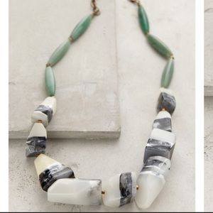 Anthropologie jade and resin necklace