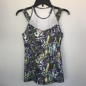 Lululemon Running in the City Tank Floral Sport