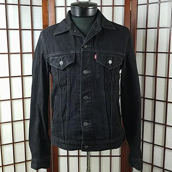Levi S Jackets Coats Mens Levis Black Denim Trucker Jean Jacket