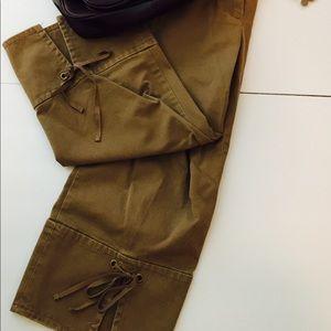 Ann Taylor Loft Marisa Cropped pants 2 camel tan