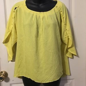 Anthropologie Maeve split sleeve blouse xs