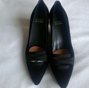 Stuart Weitzman kitten heel shoe woman black 5.5M