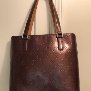 Authentic LV Houston Handbag Monogram Vernis