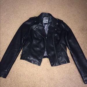 Levi motto faux leather jacket