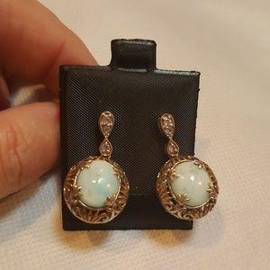 Jewelry - NWOT, CHINESE BLUE ARAGONITE Earrings.