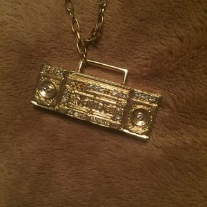 Gold Boombox Necklace