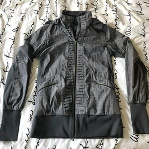 Lululemon gray plaid jacket