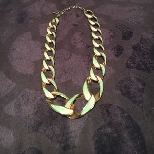 H&M Pink and green chain necklace