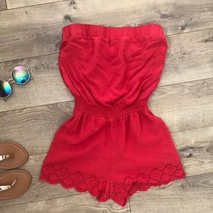 Forever 21 Romper in Red