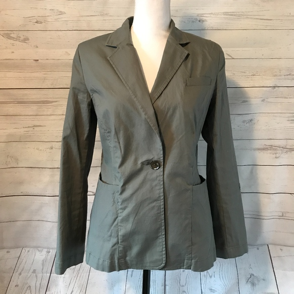 bb84227079167 CAbi Jackets & Blazers - CAbi Small Style #207 Military Olive Green Jacket