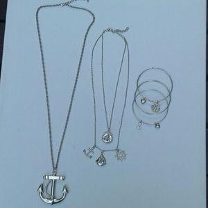 Jewelry - Boyfriend Girlfriend necklace set 3 bangles