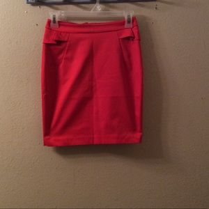 H&M red skirt size 2