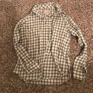 Banana Republic checkered flannel shirt