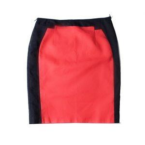 Worthington Coral Color Block Career Pencil Skirt