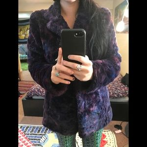 🦄 Fuzzy Faux Fur Purple Vintage Penny Lane Jacket