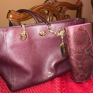 NWOT Authentic Coach Tote & Wallet