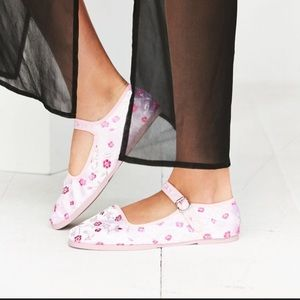 Urban Outfitters Pink Satin Mary Jane