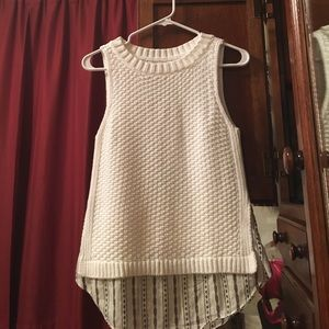 LOFT never worn sleeveless sweater with underskirt