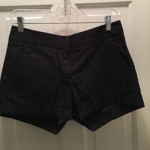 Jcrew broken-in black chino shorts - 3 inch