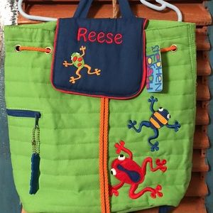 Other - Embroidered frog backpack (Reese)