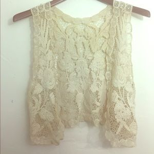 Vintage Cream Knitted Vest