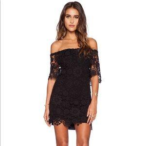 Nightcap Caribbean Crochet Off Shoulder Dress