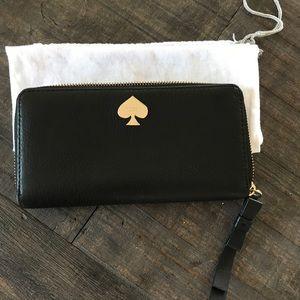 Kate Spade Black Leather Wallet