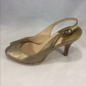 Cole haan Nike air gold sling back open toed heels