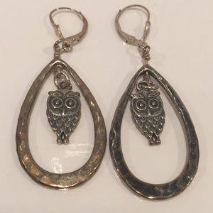 Jewelry - NWOT OWL DROP EARRINGS