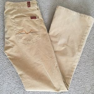 7 For All Mankind Bootcut Velour Jeans Size 30
