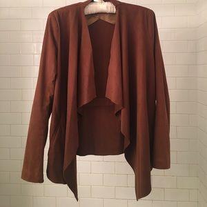 Zara Draped Faux Suede Jacket