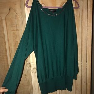 Lane bryant cropped out shoulder sweater
