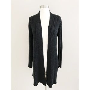 •Eileen Fisher• Merino Wool Ribbed Long Cardigan