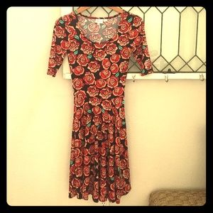 LulaRoe Disney roses Nicole dress