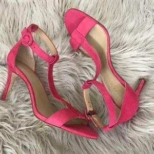 T-strap mini heels