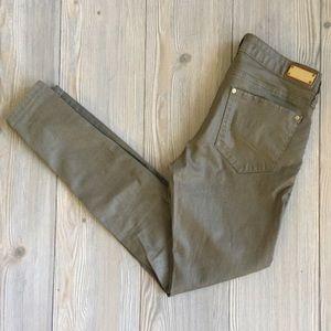 Zara Slim Fit Coated Denim Jeans Size 4
