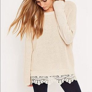 Urban Outfitters Lace Trim Sweater