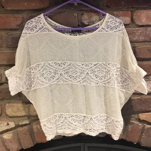 Wet seal sheer and lace blouse